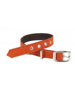 Spencer Corduroy Dog Collar - Orange