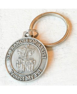 St. Francis of Assisi Tag with FREE Rubit Dog Tag Clip