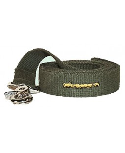 George Green & Yellow Cotton Webbing Dog Leash Embroidered with Stick