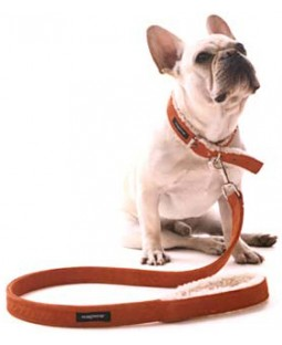 Wagwear Suede Shearling Leash