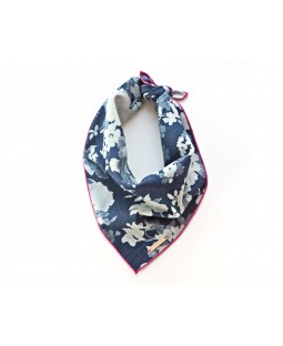 The Foggy Dog Denim Roses Bandana