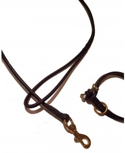 Hand-stiched Rolled Leather Leash