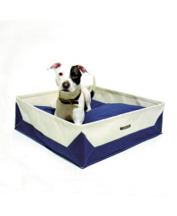 Wagwear Navy Canvas Travel Dog Bed