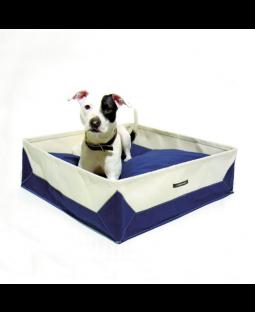 Wagwear Navy Canvas Travel Dog Bed
