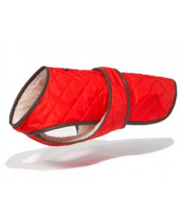 Wagwear Quilted Dog Vest with Berber Fleece - Red
