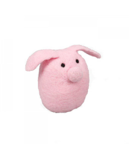 Ware of the Dog Fuzzy Felted Pig Toy