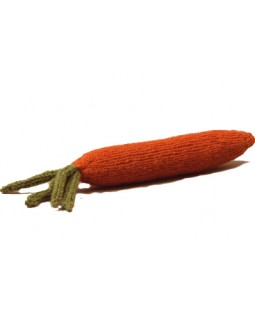 Ware of the Dog Hand Knit Carrot Dog Toy