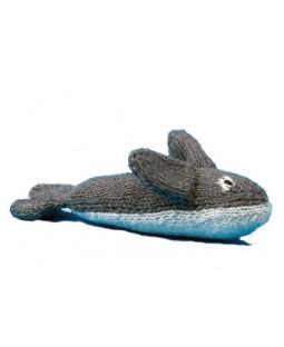 Ware of the Dog Hand Knit Whale Dog Toy