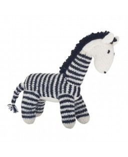 Ware of the Dog Hand Knit Zebra Dog Toy