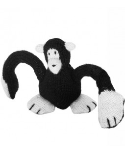 Ware of the Dog Hand Knit Monkey Dog Toy