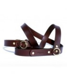 Wagwear Classic Western Havana Brown Dog Collar and Leash Set
