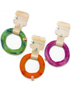 Boiled Wool Ring Dog Toy